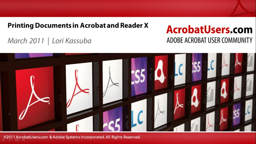 Printing Documents in Acrobat and Reader X