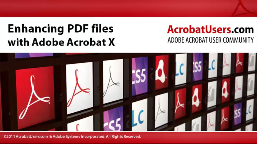 Enhancing a PDF File