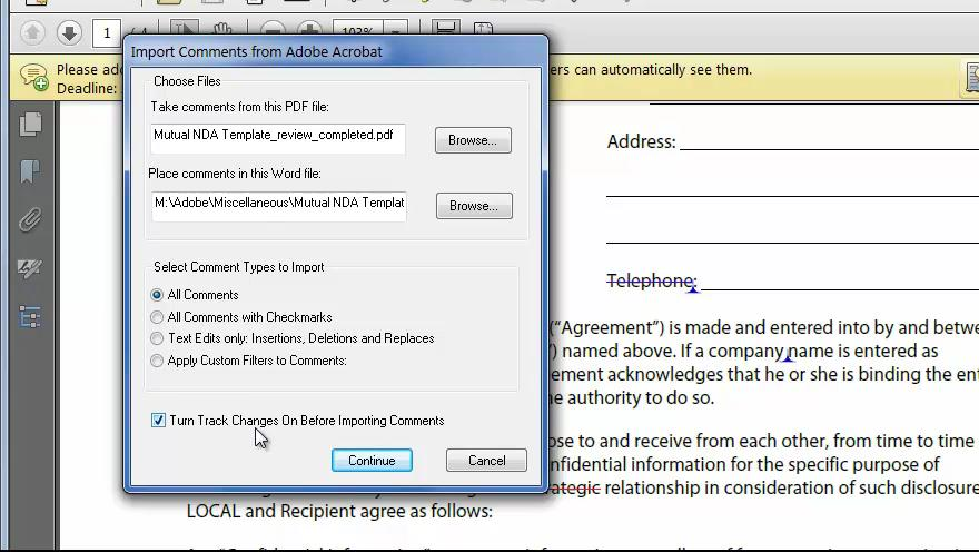 How to Roundtrip Comments between Acrobat and MSWord
