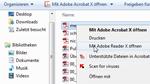 PDF für den Adobe Reader freischalten