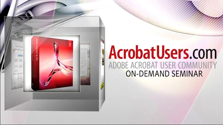 Computing in the Clouds with Acrobat X