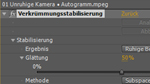 Verkrümmungsstabilisierung in After Effects CS5.5