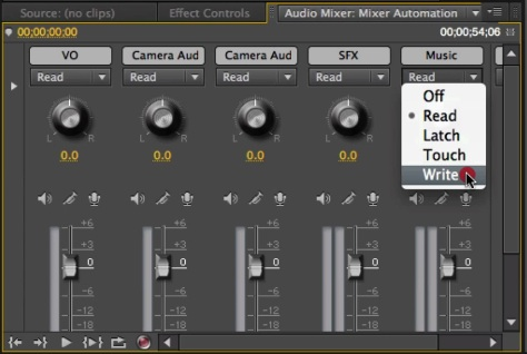 Audio Automation Modes in Action