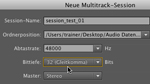 Multitrack-Session in Audition CS5.5 anlegen