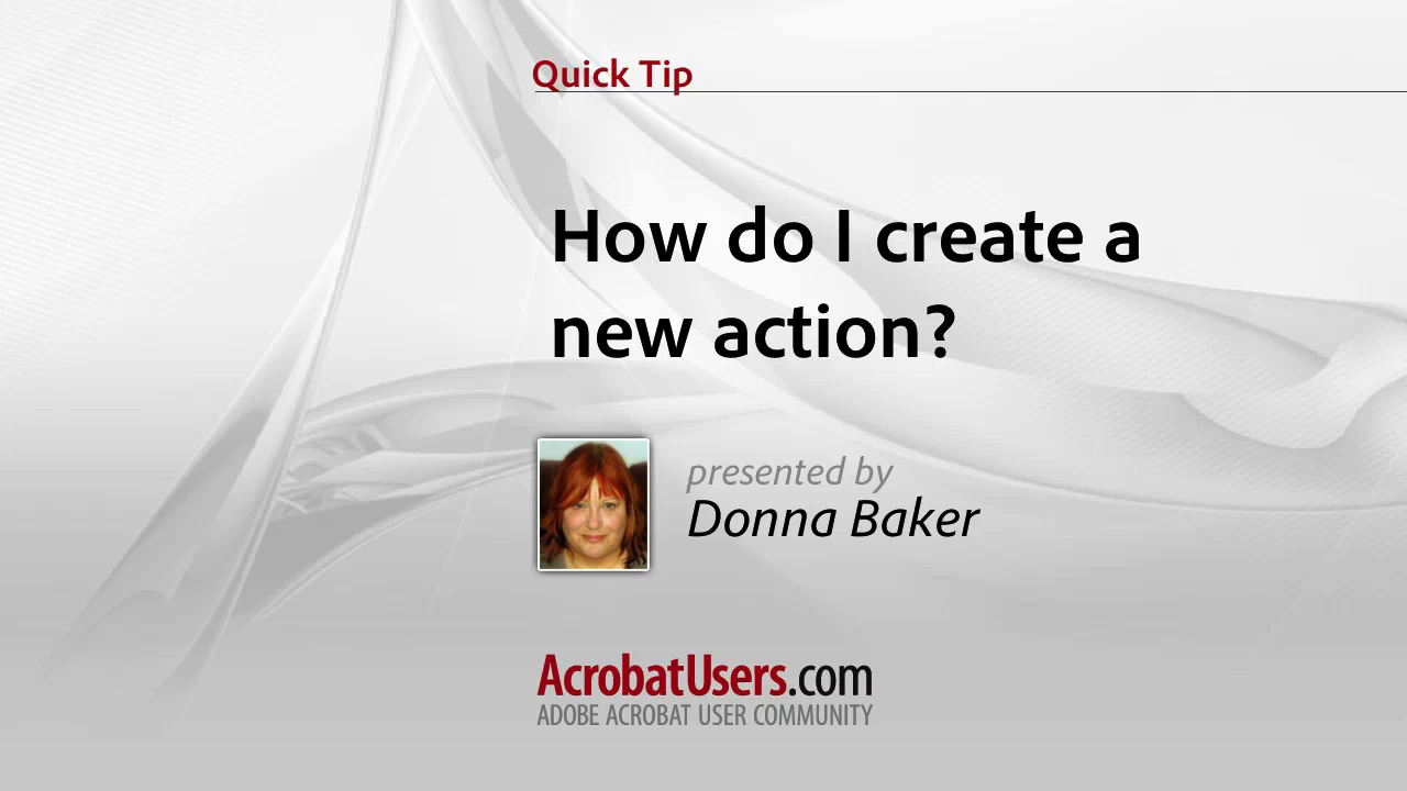 Quick Tip: How do I create a new Action?