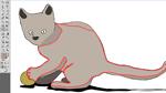 Illustrator CS5: Interaktive Malgruppe – Abgepaustes Bild