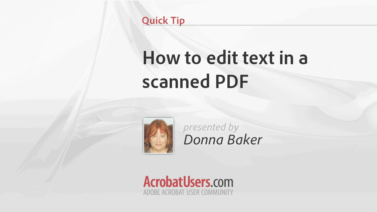 How to edit text in a scanned PDF