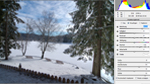 Photoshop CS5: Winterlandschaft am See