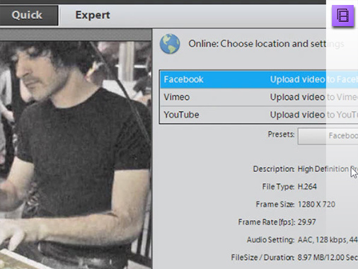 Simply share with Adobe Premiere Elements 11