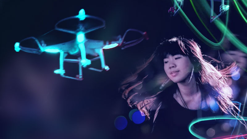 "Sony VAIO Flip with Photoshop CC - ""Drone Dancer"""