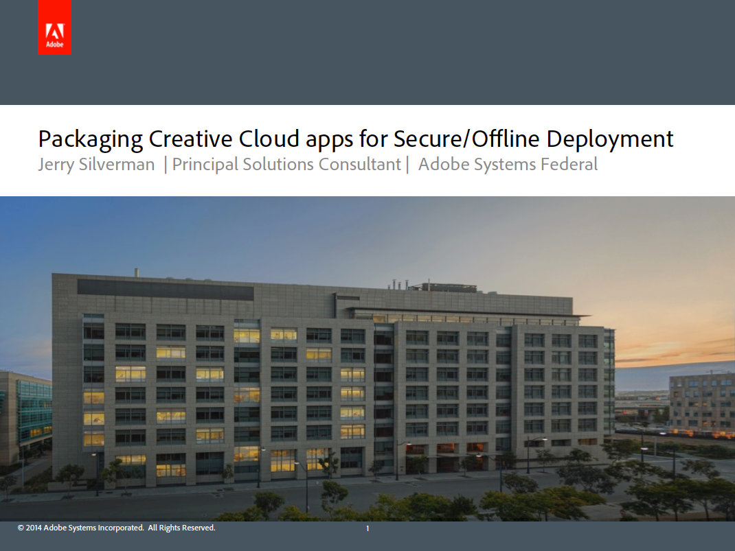 Creative Cloud for Government: Winter 2015