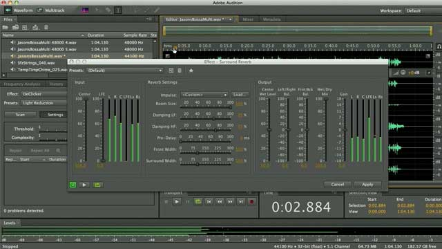Effects & Mastering Tools for Post-Production in Audition for the Mac