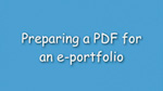 3. Preparing a PDF for an ePortfolio