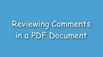 5. Reviewing teacher comments in a PDF document