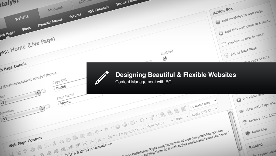 Designing Beautiful & Flexible Websites