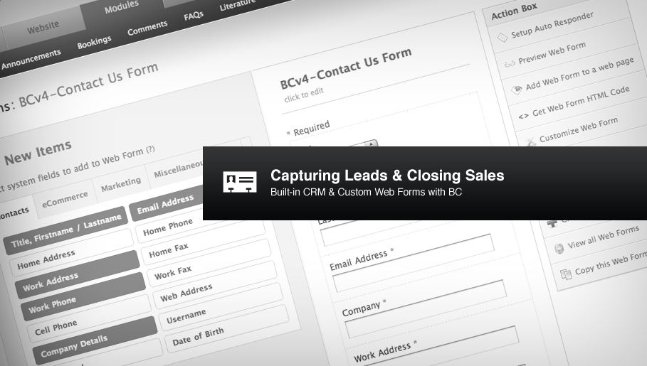 Capturing Leads & Closing Sales