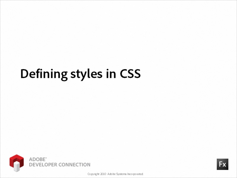 Defining Styles in CSS