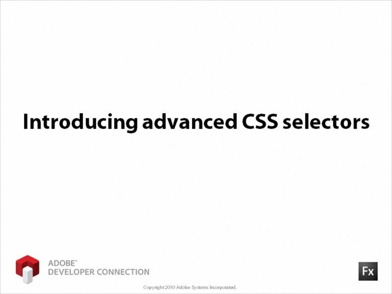 Introducing Advanced CSS Selectors