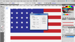 Workshop in Illustrator CS5: Flaggen  USA