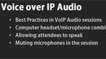 Using VoIP audio