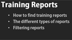 Using training reports
