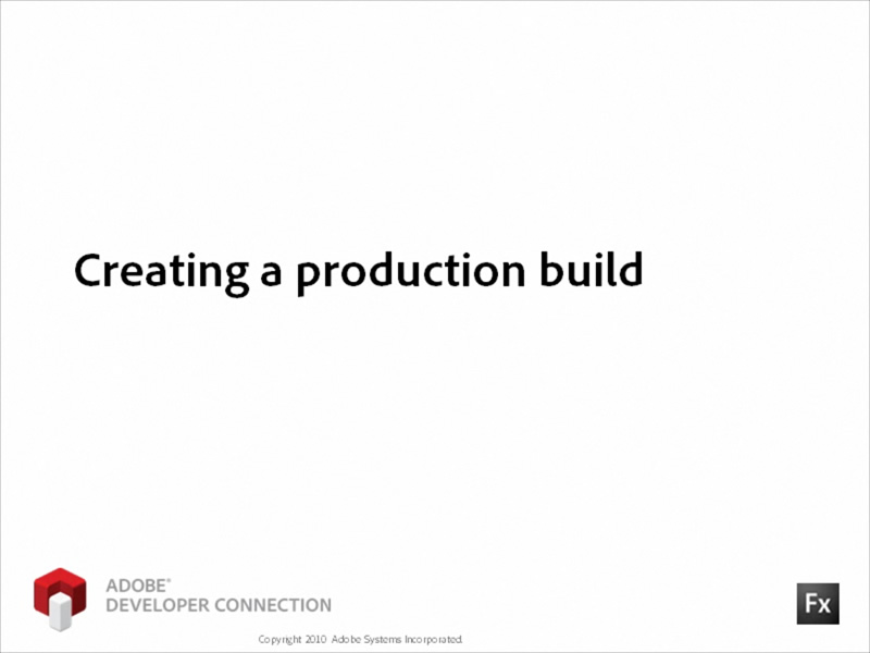 Creating a Production Build