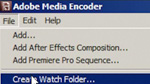 Creating a Watch Folder in AME CS5
