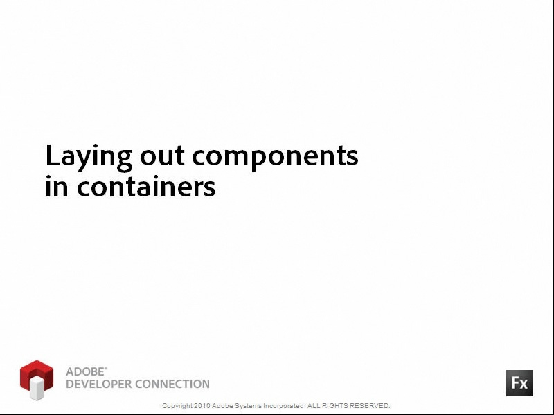Laying Out Components in Containers