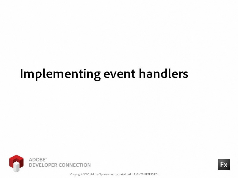 Implementing Event Handlers