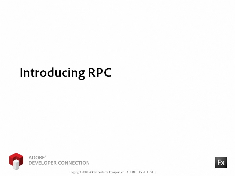 Introducing RPC