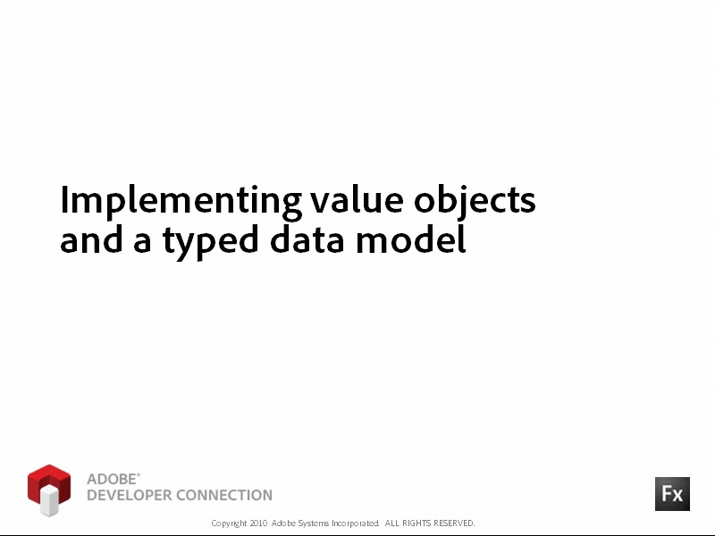 Implementing a Value Object and a Typed Data Model