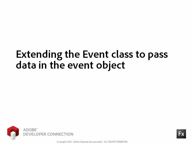 Extending the Event Class to Pass Data