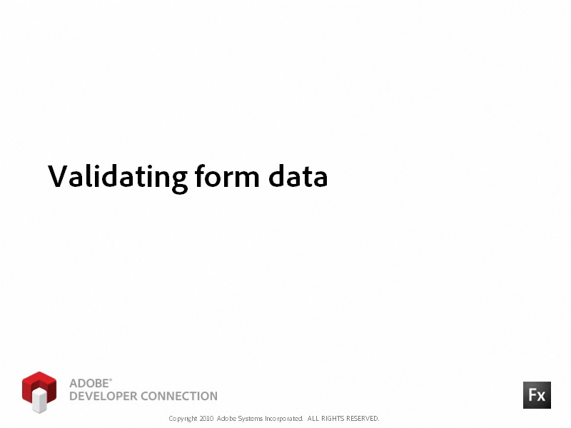 Validating Form Data
