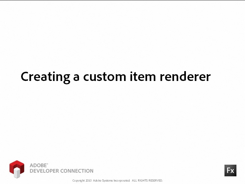 Creating a Custom Item Renderer
