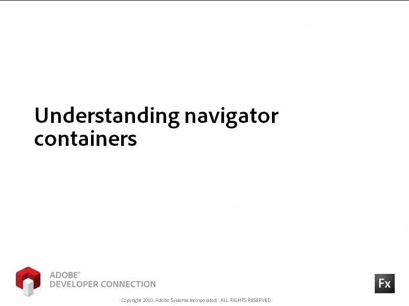 Understanding Navigator Containers