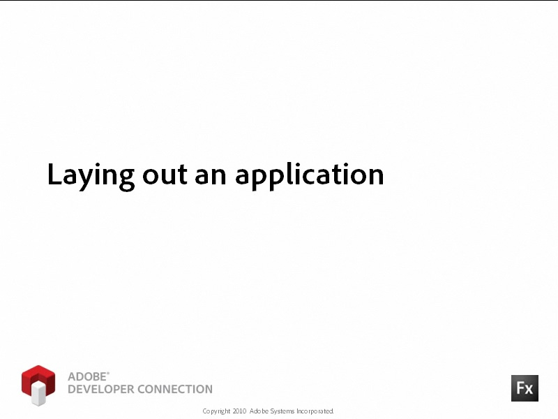 Laying Out an Application