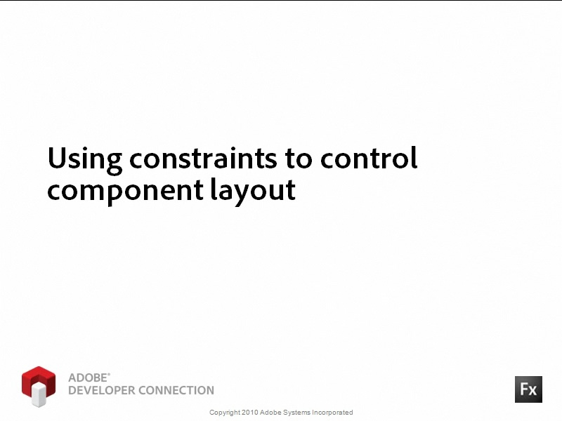 Using Constraints to Control Component Layout