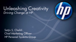 Using HP technology to Unleash Creativity