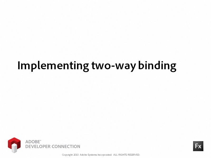 Implementing Two-Way Binding