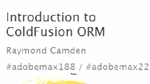 Introduction to ColdFusion ORM
