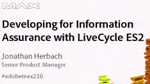 Developing for Information Assurance with LiveCycle ES