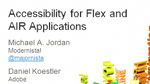 Building Accessible Flex and Adobe AIR Applications