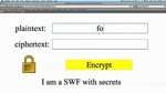 Sensitive Data in a SWF