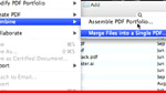 How to combine multiple files into a single PDF