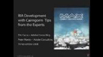 RIA Development with Cairngorm: Tips from the Experts