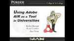 Using Adobe AIR as a Tool in Universities