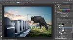 Adobe Photoshop CC : Placer la vache dans le décor