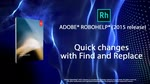 RoboHelp 2015: Quick Global Changes with Find & Replace