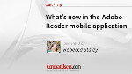 Adobe Reader mobile: Comments and eSignatures