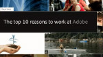 Top 10 Reasons to Work at Adobe